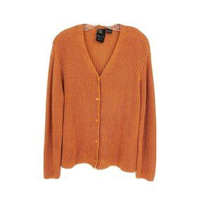 Dana B And Karen Long Sleeve Button Front Cardigan
